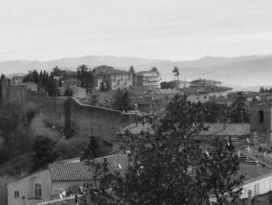 Panorama di Perugia nella zona di Monteluce